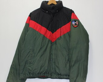 5417cd883 Vintage Polo Ralph Lauren Down Insulated Suicide Downhill Ski Jacket Size  Large