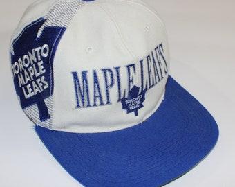 fc5f16cb6c14a8 Vintage Toronto Maple Leafs Sports Specialties Laser Snapback Hat Size OSFA