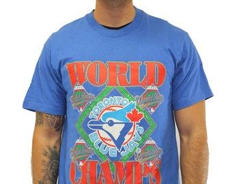 4faad8198 Vintage Toronto Blue Jays World Series T-Shirt Size Large