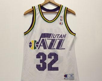 beff5105e Vintage Karl Malone Utah Jazz Champion Jersey Size 36 S