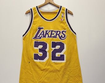 a1e2fb3b297 Vintage Magic Johnson LA Lakers Champion Jersey Size 44 L