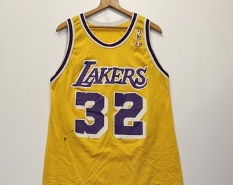 2c7fc0b0d29 Vintage Magic Johnson LA Lakers Champion Jersey Size 44 L