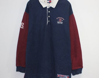 6a4e6e96 Vintage Tommy Hilfiger Athletics Rugby Shirt Size XL