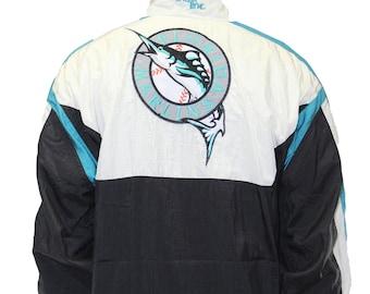 1c33a7f66 Vintage Florida Marlins Chalk Line Windbreaker Jacket Size Large