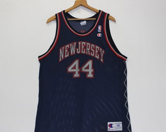 95a6e8ce9 Vintage Keith Van Horn New Jersey Nets Champion Jersey Size 48 XL