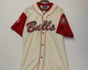 e3a4c6db6 Vintage Chicago Bulls Starter Baseball Jersey Size Medium