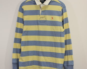 a87f410f4eb Vintage Polo Ralph Lauren Striped Rugby Shirt Size Medium