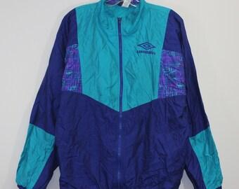 9d8a17948dd Vintage Umbro Windbreaker Jacket Size Medium