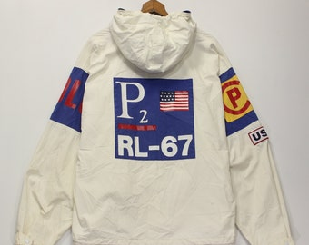 b9d428f8a Vintage Polo Ralph Lauren CP93 RL67 Light Jacket Size Large