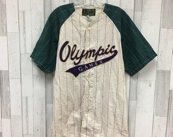 0e6af8518 Vintage Atlanta 1996 Olympics Mirage Baseball Jersey Size XL