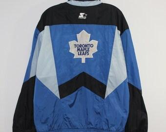 9ccfae7d5 Vintage Toronto Maple Leafs Starter Windbreaker Jacket Size Large