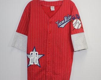 30863d45a Vintage The Disney Store Team Mickey Baseball Jersey Size Medium