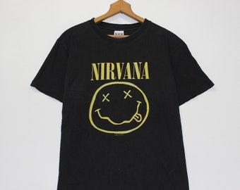 e458ddd7e6d1 Vintage 1992 Nirvana Smiley Faces T-Shirt Size Medium