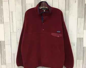 eff9847c410 Vintage Patagonia Synchilla Snap-T Fleece Jacket Size XL