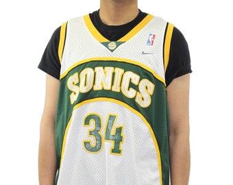 Vintage Seattle Super Sonics Ray Allen Nike Swingman Jersey Size XL da1f50f04