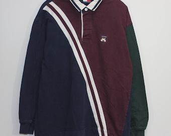 367fa9e3b5a Vintage Tommy Hilfiger Rugby Shirt Size XXL