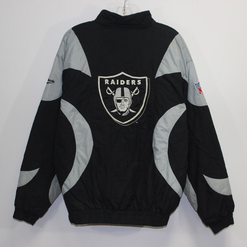 8a2b219e Vintage Oakland Raiders Reebok Insulated Pullover Jacket Size Large