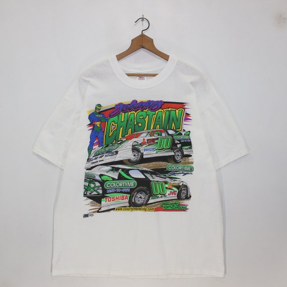 Vintage Johnny Chastain NASCAR Racing T-Shirt Size