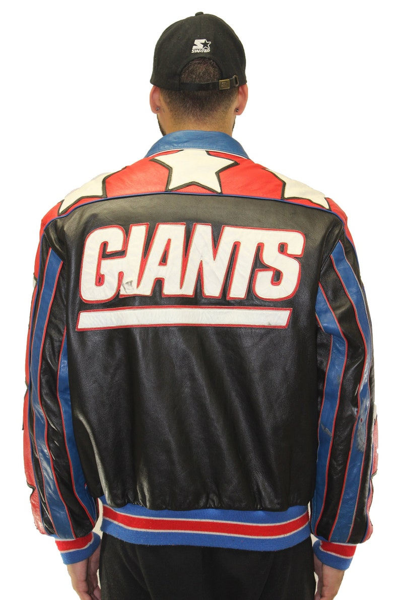 low priced ee29b a023c Vintage New York Giants Jeff Hamilton Reversible Jacket Size Large