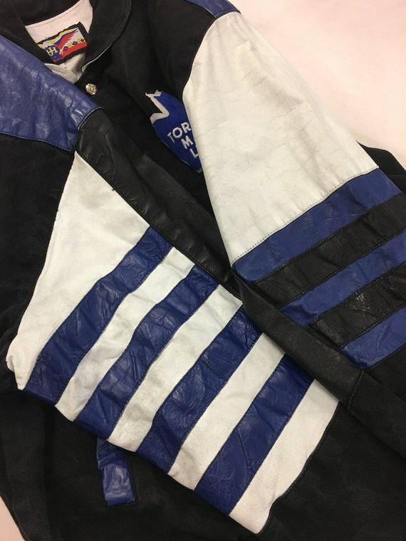 Vtg Nike Toronto Maple Leafs Varsity Jacket Wool Leather