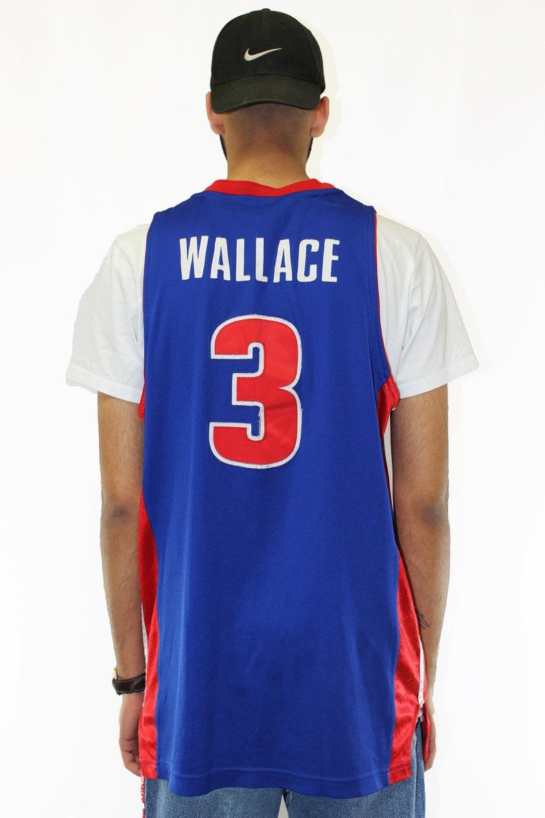 Vintage Detroit Pistons Ben Wallace Authentic Reebok Jersey Size 44 L