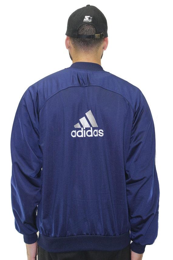 Vintage Adidas Popper LongShort Sleeve Track Jacket Size Medium