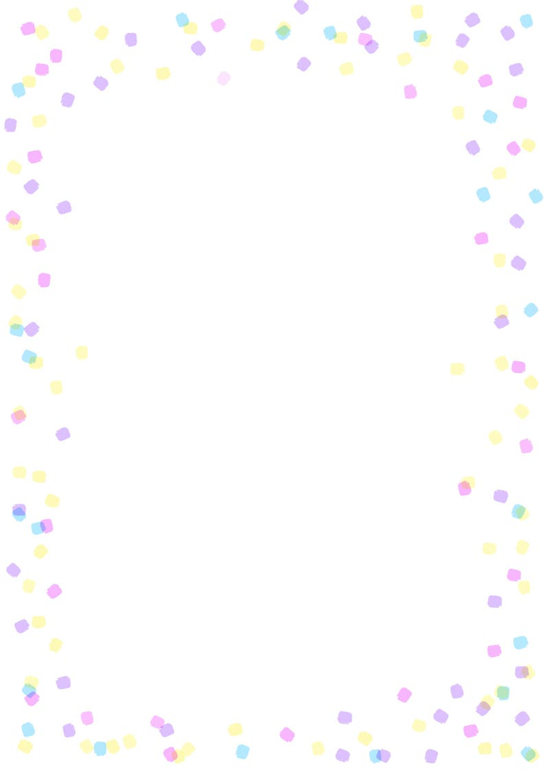 picture regarding Printable Border Paper named Printable Confetti Border - Paper Craft Components - Electronic Down load