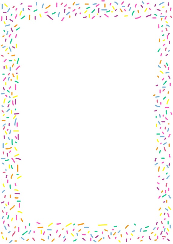 graphic relating to Printable Border referred to as Printable Sprinkles Border - Paper Craft Components - Invitation Template - Rainbow Sprinkles Example - Electronic Obtain