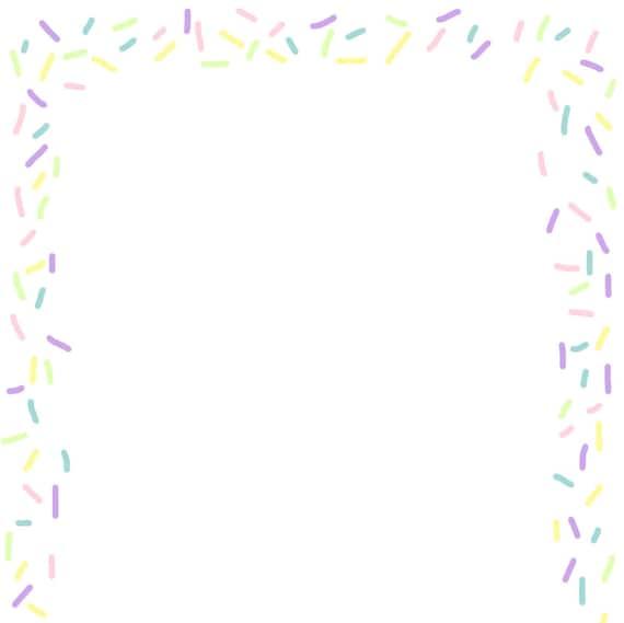 printable sprinkles border paper craft supplies invitation etsy