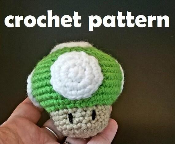 1up Mushroom Amigurumi Pattern Cat Toy Super Mario Inspired Etsy
