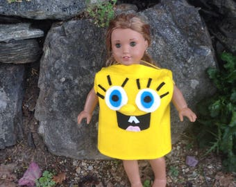 SpongeBob SquarePants Mascot Costume 18 Inch Doll Clothes Spongebob Birthday Handmade by Dolls All Day Fashions  sc 1 st  Etsy : spongebob costumes for toddlers  - Germanpascual.Com