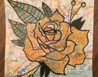 Recycled Map Art