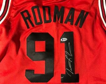 Dennis Rodman Certified Autographed Jersey cea5681c9
