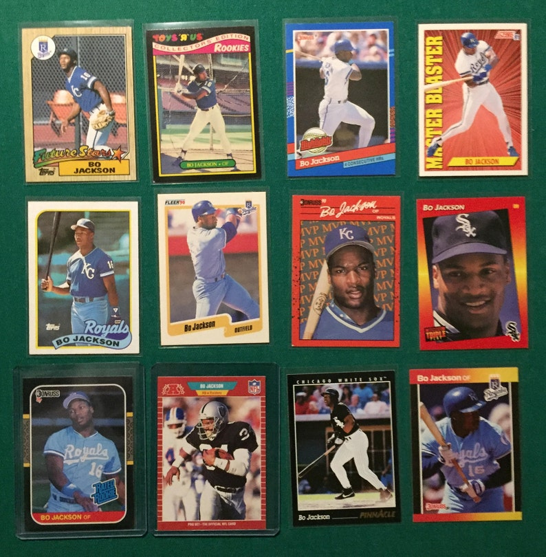Bo Jackson Card Lot With Rookie Cards And Football Card Nice