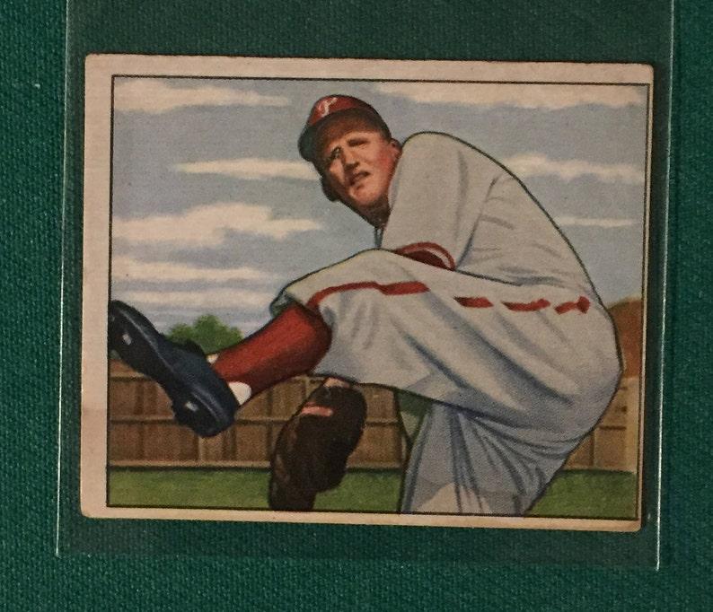 Phillies Legend 1950 Bowman Hank Borowy Phillies Card #177 Sweet!