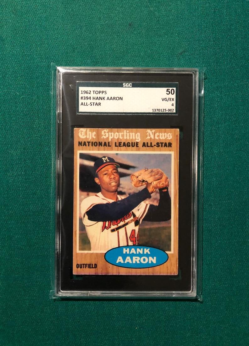 1962 Topps Hank Aaron All Star Card