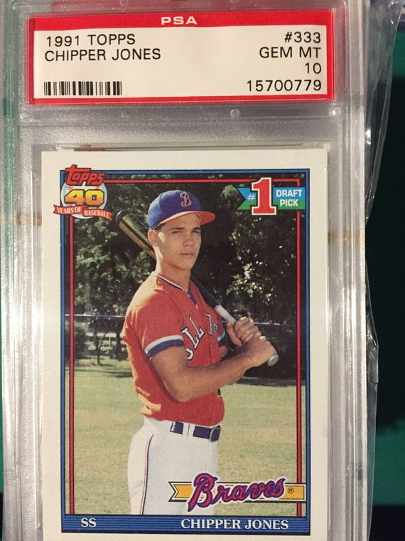1991 Topps Chipper Jones Psa 10 Rookie Card
