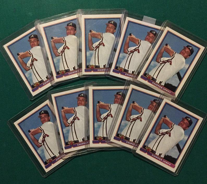 Mint WOW!!!!!!!!!!!!!! 10 Chipper Jones Rookies Cards NM