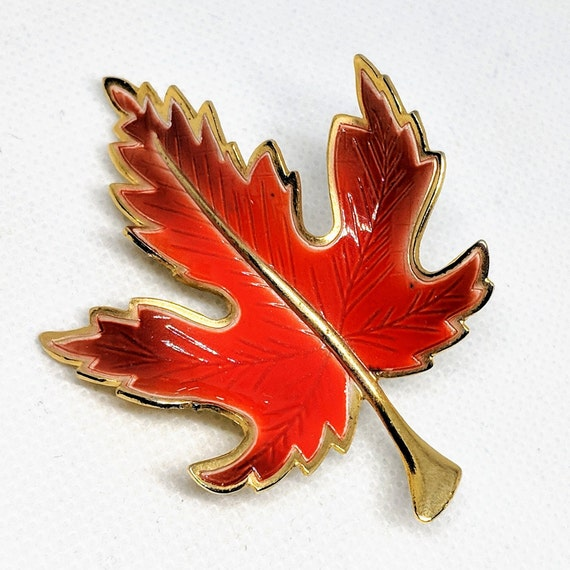 """1.75/"""" Red Leaf embroidery Fall Autumn Leaves"""