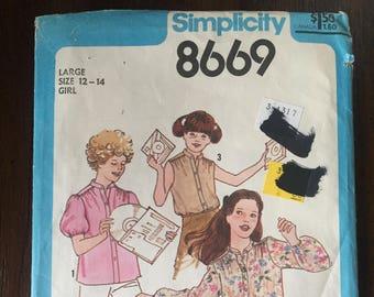 Vintage 1978 Simplicity 8669 Pattern
