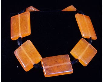 Orange Flats with Black
