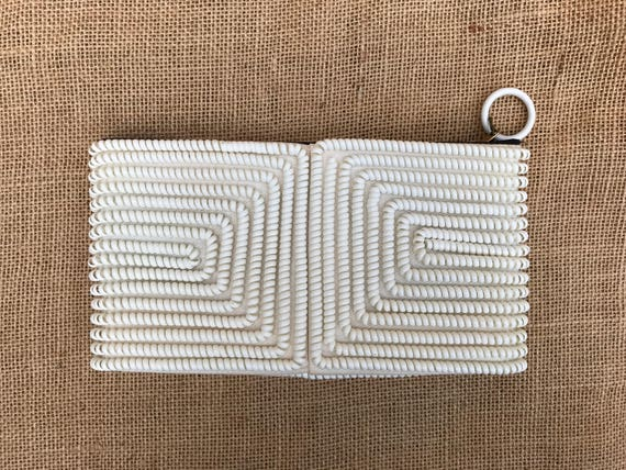 Small White Telephone Cord Clutch