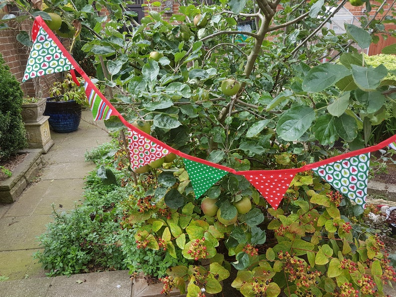 Christmas Themed Bunting  Bright Prints image 0