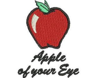 NeedleUp - Apple of your Eye embroidery design