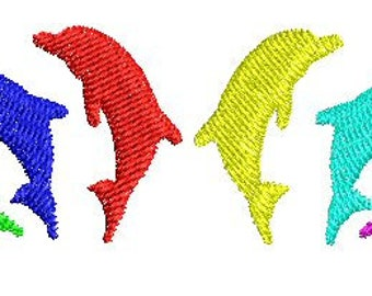 NeedleUp - Dolphins embroidery design
