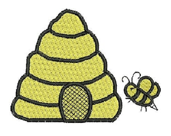 NeedleUp - Bee Hive embroidery design