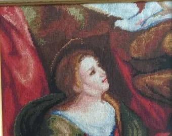 Handmade framed Gobelin Holy Spirit