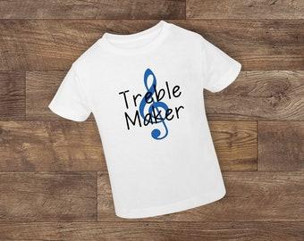 ea9b2a8802e Treble Maker - Toddler Shirt - New Baby - Baby Girl - Baby Boy - Toddler -  unisex - Treble - Music Notes - Treble Clef - Custom Made