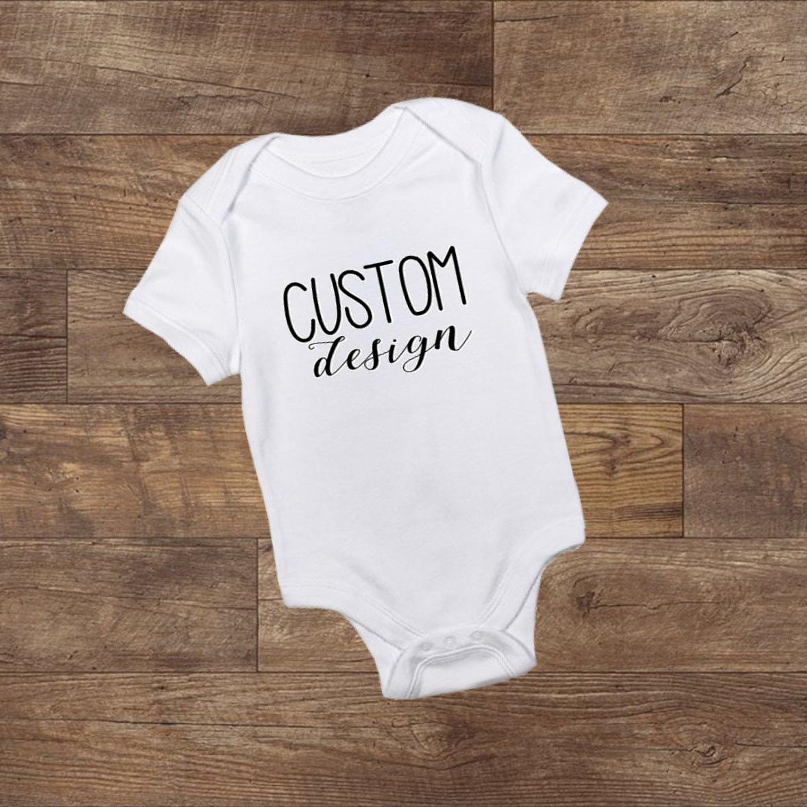 fb3016b7e Custom Baby Bodysuit Design Your Own Bodysuit Personalized | Etsy