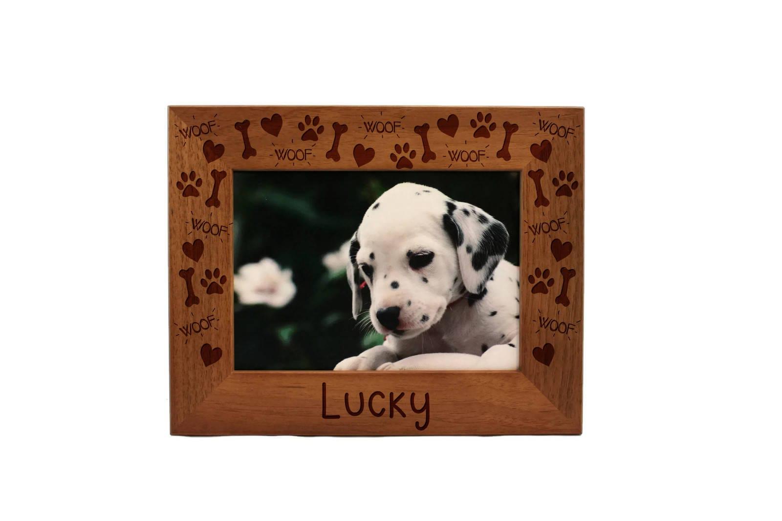 Personalisierte Bilderrahmen Bild Hund Bilderrahmen | Etsy